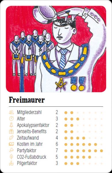 Spielkarte Freimaurer